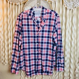SOLD Frank & Eileen Blue and Pink Plaid Long